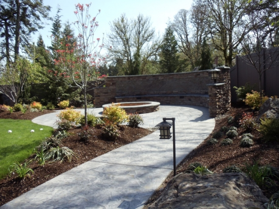 Cedar Mill Property – Stone Work