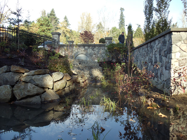 Runoff Pond Innovative Landscaping Inc