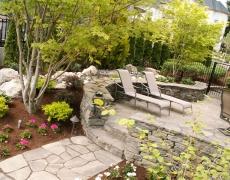 Stone Work & Plantings