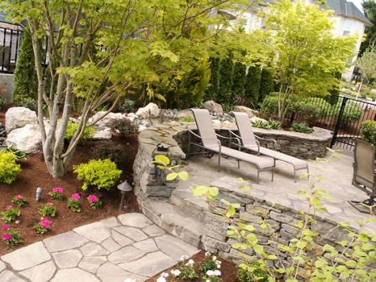 Stone Work and Plantings 5
