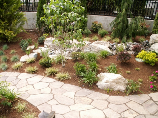 Stone Work and Plantings 8